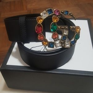 Gucci belt crystal GG buckle